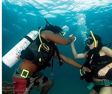 Den teoretiska delen av dykningen är mycket viktigt också